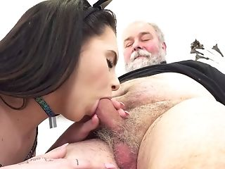Youthful Kitty Is Sucking And Fucking This Filth Old Man