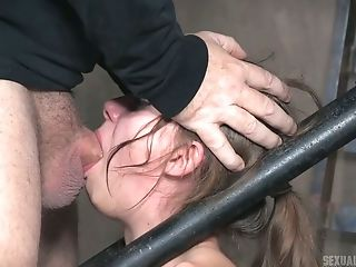 Horny Stud Fucks Face Of Restrained And Chained Bitch Zoey Laine
