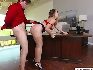 Office Tart Natasha Nice Is Fucked Hard Right On The Table
