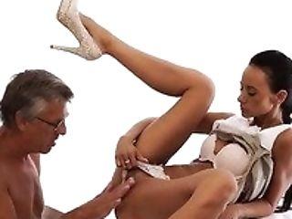 Slender Suntanned Shameless Chick Liliane Gives A Good Dt To Horny Gaffer