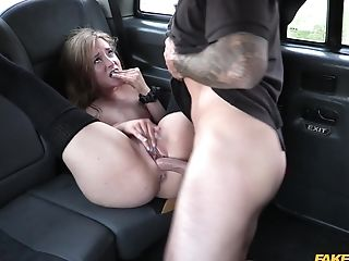 Blonde Chick Khaya Peake Invites A Cab Driver For Some Joy