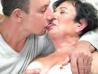 Granny Named Hettie Taking Care Of A Junior Boner At Her Home