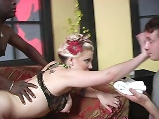 Candy Monroe Fucked By A Black Stallion In Front Of A Horny Man