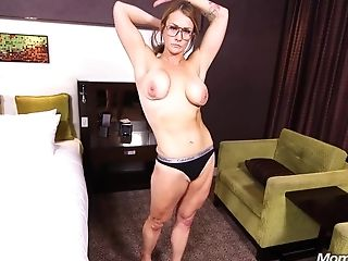 Large-jugged Housewife Agrees To Butt-banging