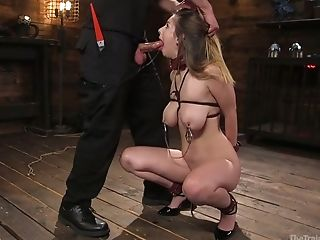 Big Tittied Honey Stella Cox Is Penalized With Metal Hook And Big Hard Dick
