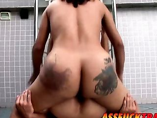 Big-titted And Horny Shemale Penelope Jolie Fucks Sexy Dude