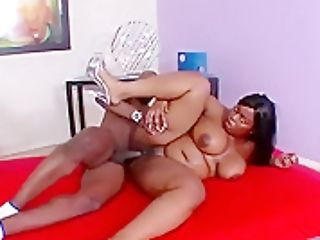 Fat Chocolate Woman Invites Her Black Paramour To Drill All Her Fuck Holes