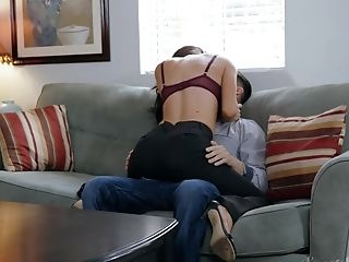 Dark Haired Matures Mummy Silvia Saige Fucks While At Work