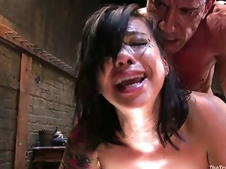 Crazy Marco Banderas Fucks Buttfuck Fuck Hole Of Tied Up Whore Kimmy Lee