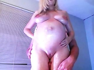 This Preggie Woman's Arousal Is Evident And She Gives Some Nice Hip Job