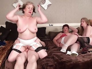 4some Grannies - Cougar Hard-core Group Fuck-fest