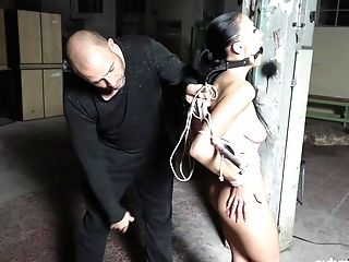 Tied And Horny Nicole Love Gets Her Twat Pleased By Horny A Dude