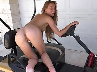 Alexis Crystal Turns Her Little Car Into A Solo Hookup Scene