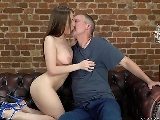 Dark-haired Lina Mercury Uses Her Dt Abilities To Please An Older Dude