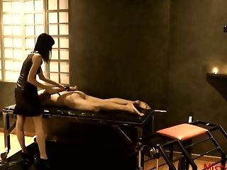 Female Domination Whipping Slaveboy In A Chamber - Mistress Kym