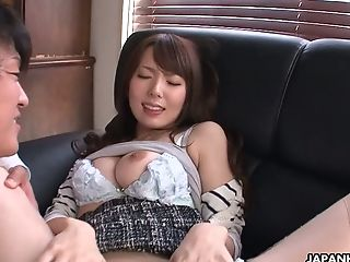 The Manager Is Not Here And Yui Hatano Can Fuck Her Horny Colleague