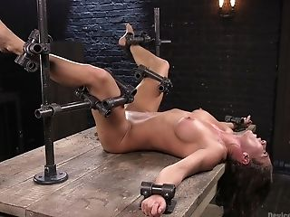 Ariel X Demolishes Her Honeypot With Two Big Intercourse Playthings By A Horny Dude