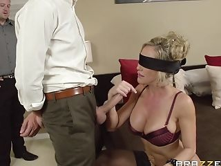 Blinded Cougar Brandi Love Blows Thick Pulsating Dick