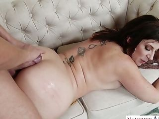 A Bit Timid Dude Gets Eventually Lured By Charming Sara Jay Who Gonna Fuck Today