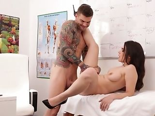 Italian Honey Valentina Nappi Gets Intimate With Her Physician During Examination