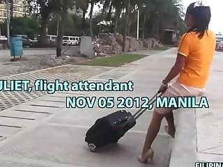 Lovely Filipina Flight Attendant Gets Picked Up Outdoors And Fucked Well