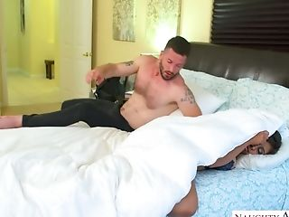 Spoiled Spouse Fucks Supah Sexy Big-chested Friend Of His Wifey Ella Knox