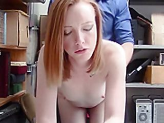 Red-haired Teenager Thief Pays With Hairy Honeypot For Freedom