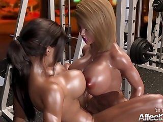 Big Tits Hermaphroditism Honeys Having Fuckfest In A Gym