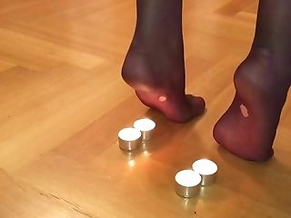 Nylon Feet Candle Torment