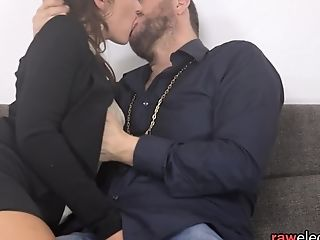 Euro Cougar Deepthroating In Closeup