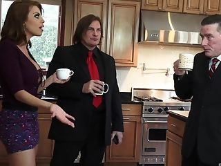 Britney Amber Gets Her Gullet And Honeypot Crammed With Phat Bone