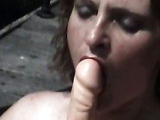 Perverted Pallid Whore With Gross Saggers Is Engaged With Her Onanism