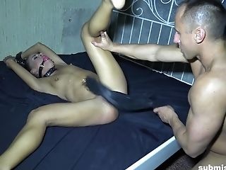 Force Fed Big Dick While Tied Up Teenage Honey Eveline Dellai