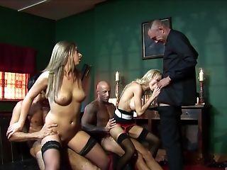 Decadent Nun Antonia Deona Guzzles Jizm At A Xxx Orgy