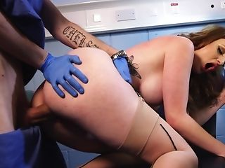 Huge-boobed Ginger-haired Comes To Dentist And Gets Fucked Frantically