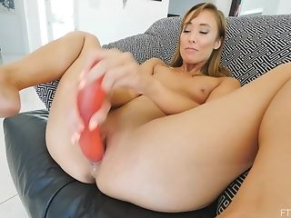 Intense Orgasm With Solo Model Christy Pounding Herself With Playthings
