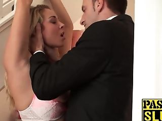Amazing Cuffed Blonde Tart Victoria Fucked From Behind