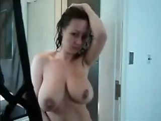 Hot Mummy Masturbating And Dirty Talk After Bathroom