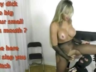 Draped Brazilian Shemale Fucks Man