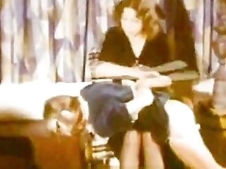 Stepmother Spanks Her Stepdaughters (1970s Antique)