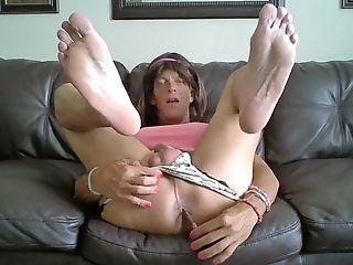Smokin' Tranny Sleek, Draped, And Polished Sexy Feet