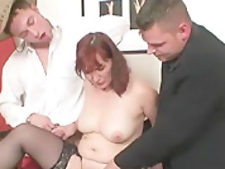 Old Threesome Orgy After Disrobe Poker