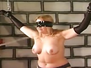 Huge-titted Blonde Masochist Is Tied And Pounded In Basement