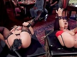 Ball-gagged Whores Harshly Fucked By Their Domineering Master