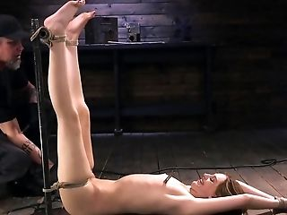 Master In Cap And Gloves Shows A Gal That Bondage & Discipline Isn't A Bad Thing