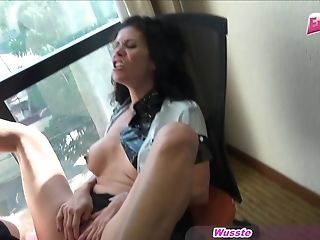 German Police Latina Mummy Fuck At Window