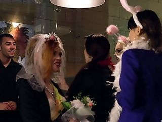 Bride To Be Lucia Love In A Gonzo Orgy On Her Wedding Day