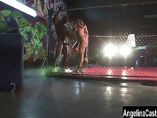 Angelina Castro Big Black Cock Cell Showdown!