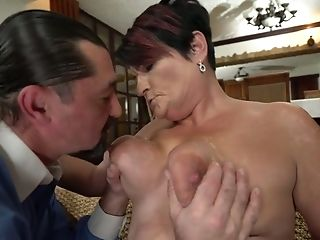 Brief Haired Chubby Matures Housewife Dolly Bee Is Fucked Rear End Well