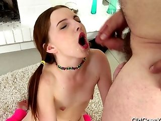 Old Goes Youthfull - Tyna Gets Her Twat Big Prick
